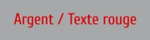 Plaque de boite aux lettres PVC coloris argent texte rouge