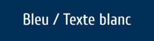 Plaque de boite aux lettres PVC bleue texte blanc