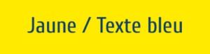 Plaque de boite aux lettres PVC jaune texte bleu