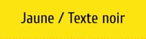 Plaque de boite aux lettres PVC jaune texte noir