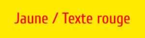Plaque de boite aux lettres PVC jaune texte rouge