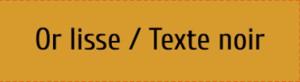 Plaque de boite aux lettres PVC or lisse texte noir