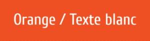 Plaque de boite aux lettres PVC orange texte blanc