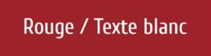 Plaque de boite aux lettres PVC rouge texte blanc
