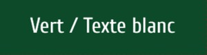 Plaque de boite aux lettres PVC verte texte blanc