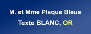 Plaque de boite aux lettres plexiglas bleue