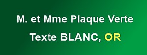 Plaque de boite aux lettres plexiglas verte